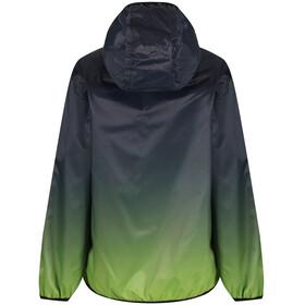 Regatta Printed Lever Jacket Kids Black/Lime Zest